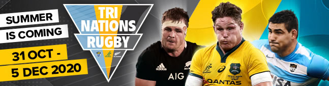 Tri Nations Rugby: Australia - Argentina - New Zealand